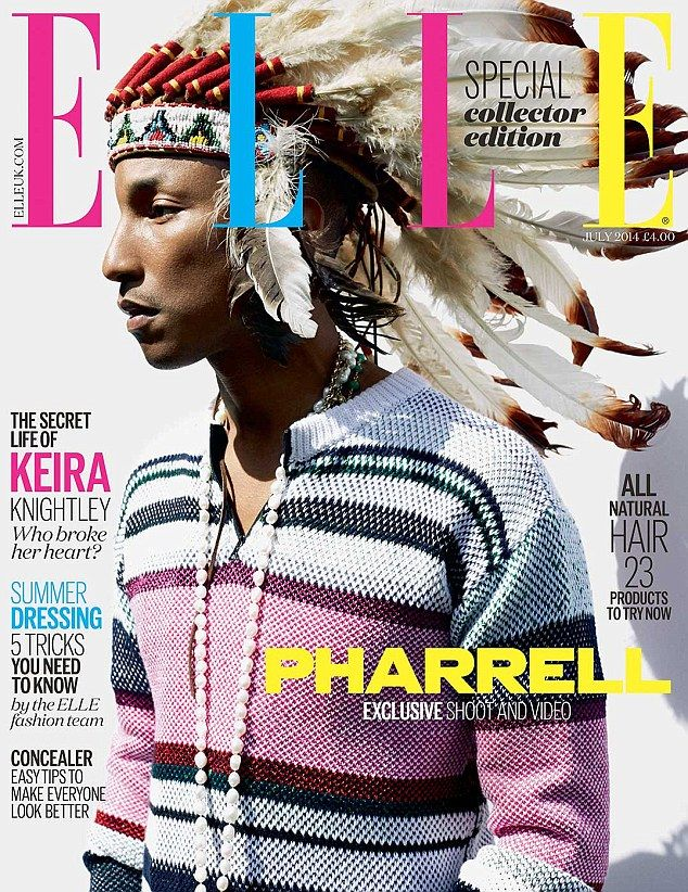 Pharrell Is Sporting A Headdress On The Cover of Elle UK And Nobody's Happy