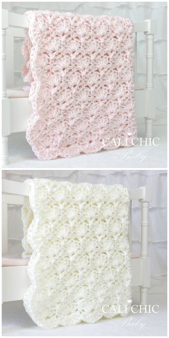 Baby Blanket Crochet Patterns With Beautiful Edging | The WHOot #babyblanket