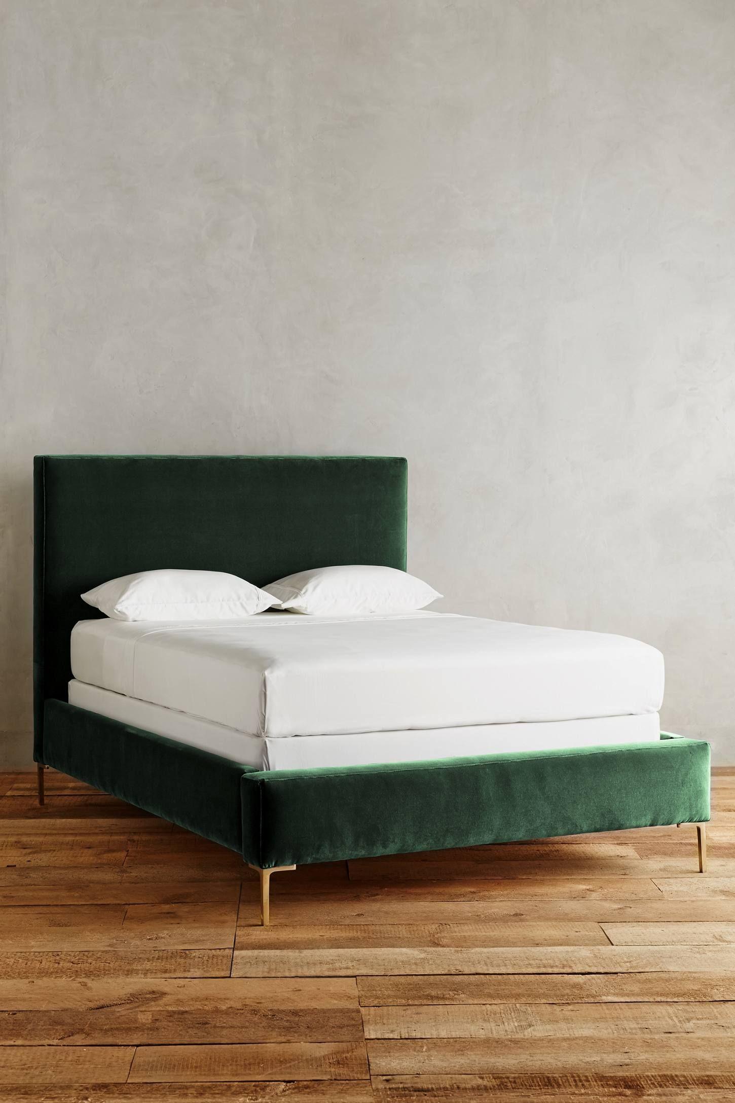 Green Velvet Bed Unique Bed Frames Velvet Bed Bedroom Furniture