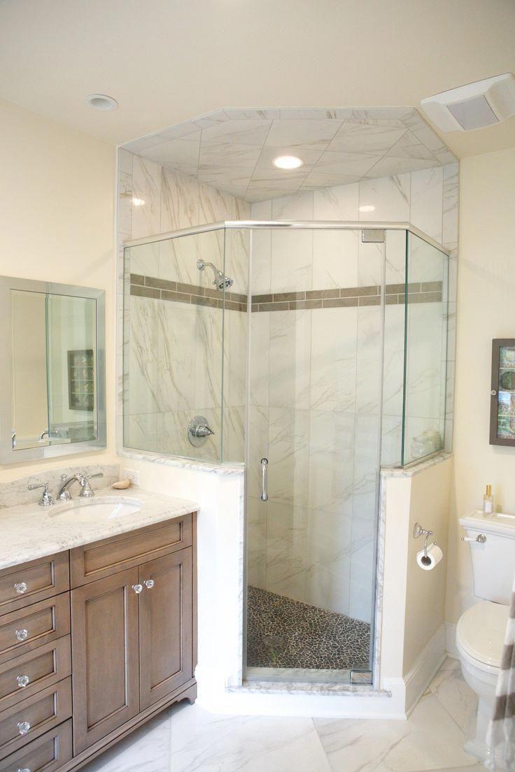 Choosing A New Shower Stall Neo Angle Shower Basement Bathroom Design Shower Stall