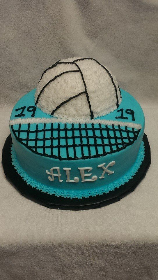 Volleyball Cake Frosted Friends Bakery Cakes Pinterest