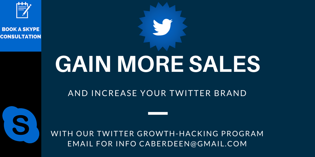 Gain more sales in your business and harness the power of #twitter with our #growthacking program