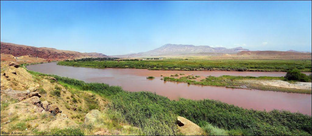 Aras River, Iran & Azerbaijan border رود ارس