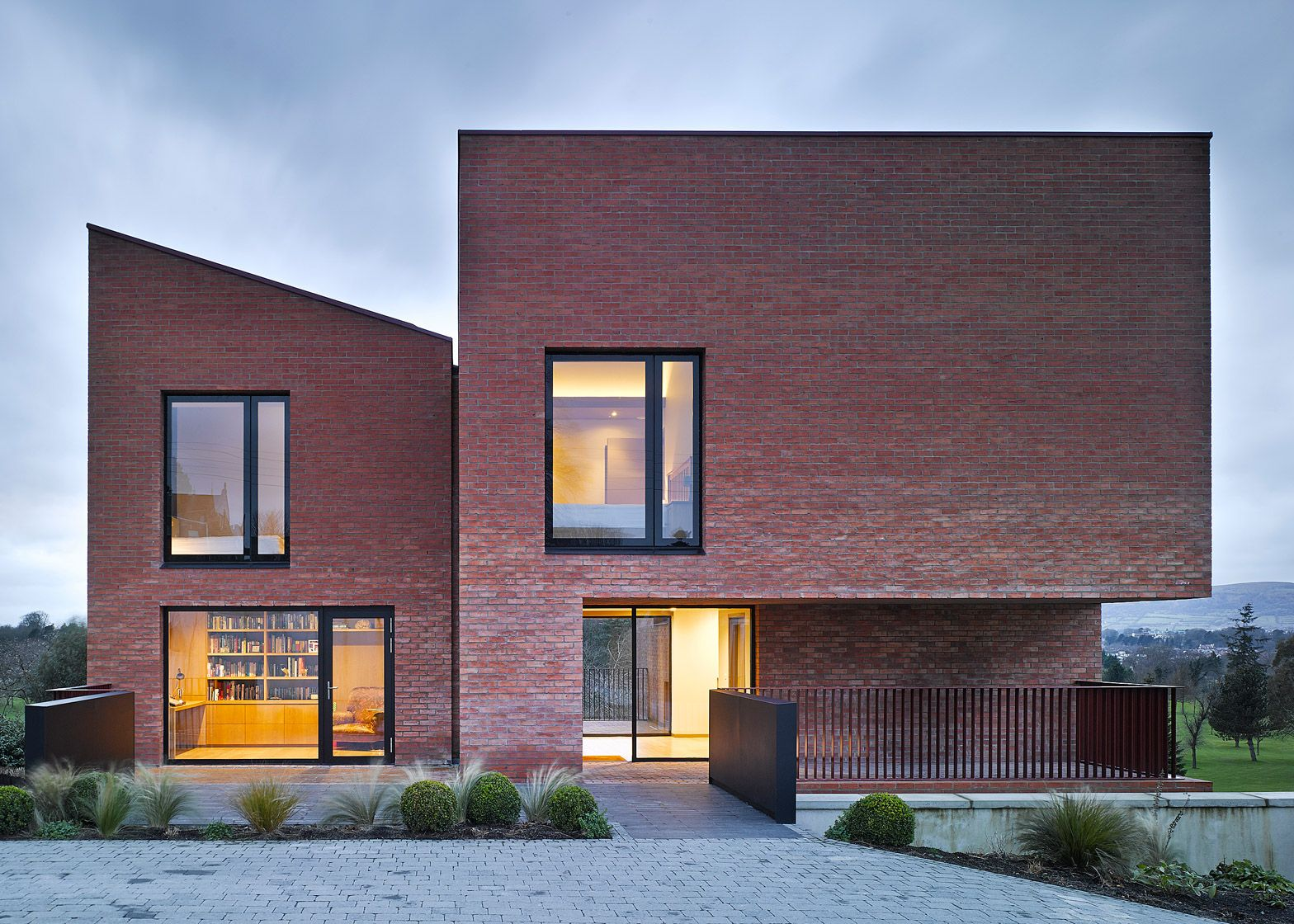 Three Mono Pitched Brick Buildings Combine To Form This House In Belfast By  Hall McKnight