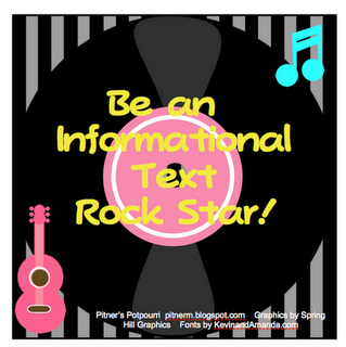 Be an informational text rock star free printable.