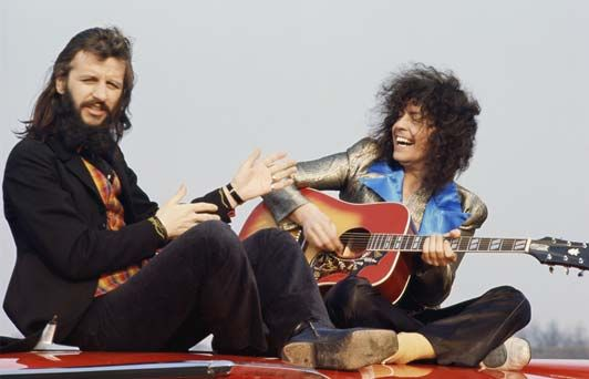 Ringo Starr and Marc Bolan, 1971