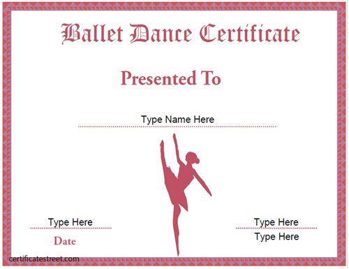 Ballet dance certificate dance pinterest ballet dance ballet dance certificate yadclub Image collections