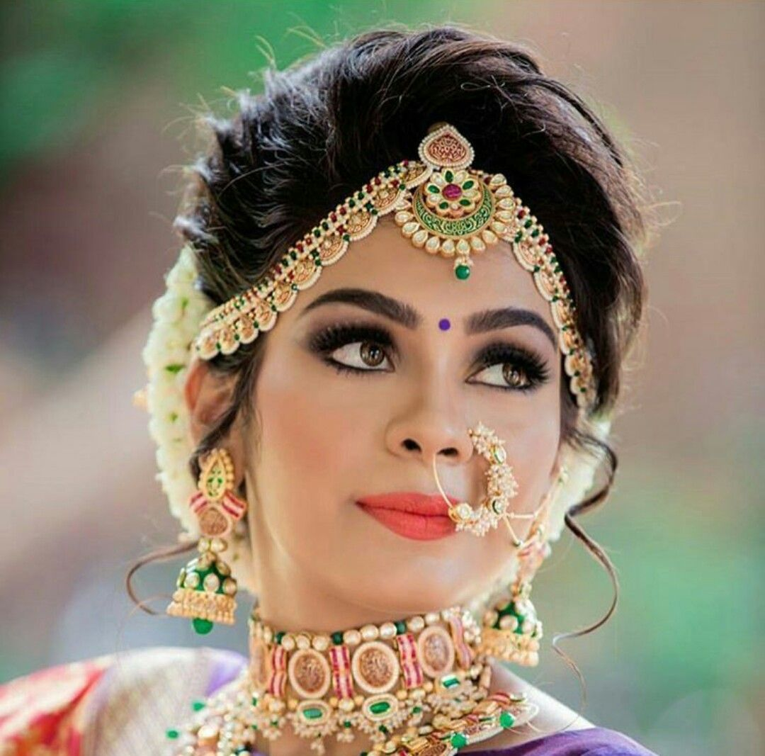 Pin By Shika Chand On Make Up Indian Bridal Makeup Bridal Hairstyle Indian Wedding Indian Bridal Hairstyles