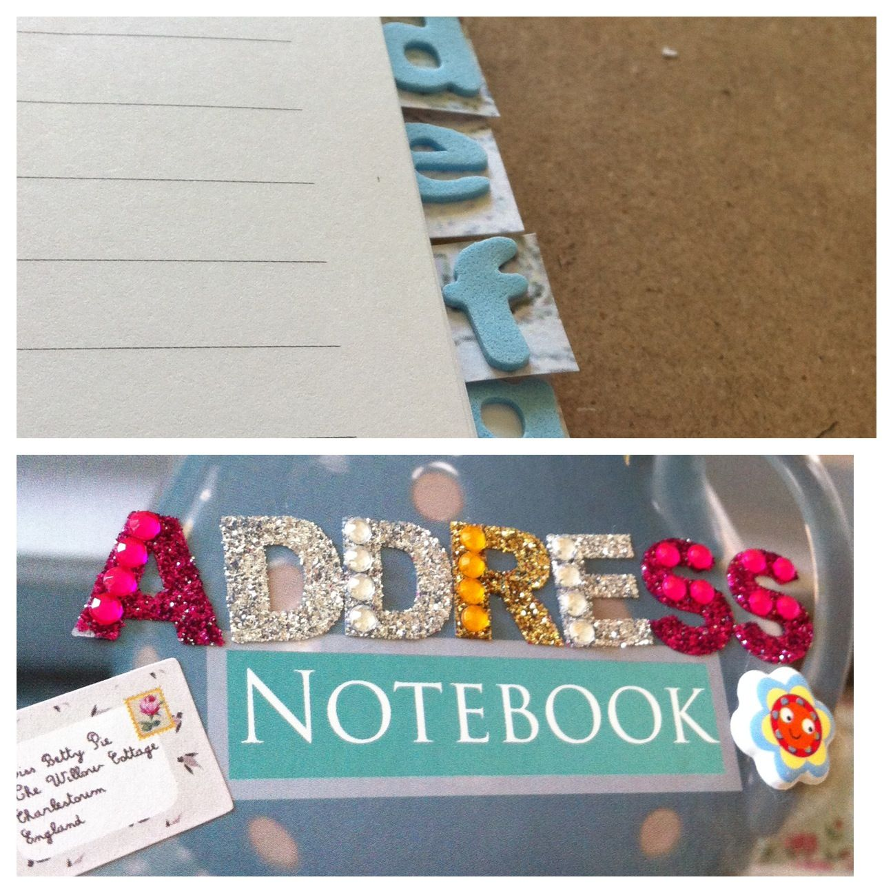 Had a crafty morning turning this notebook into an address book :)