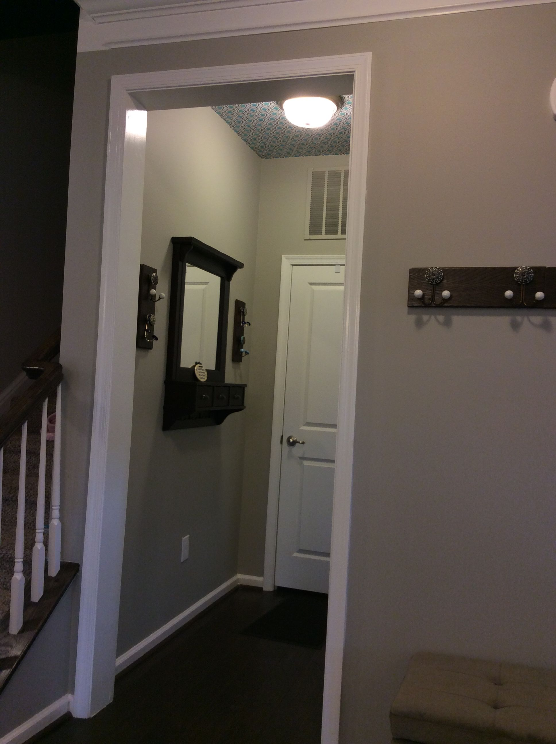 Foyer Ceiling Quotes : Ryan homes rome model mud room entryway wallpaper on