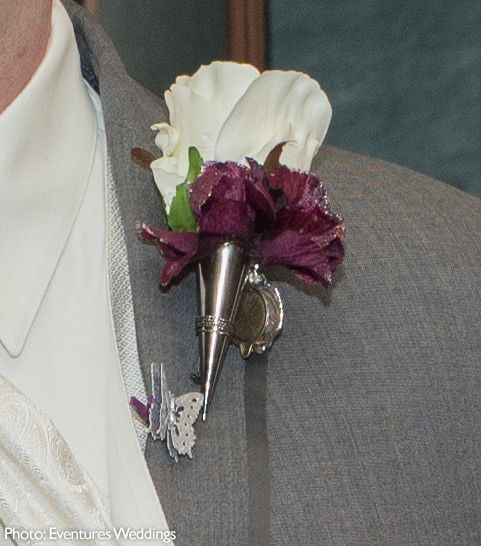 Lapel Pin Vase In Black Boutonniere Pins Corsage Supplies