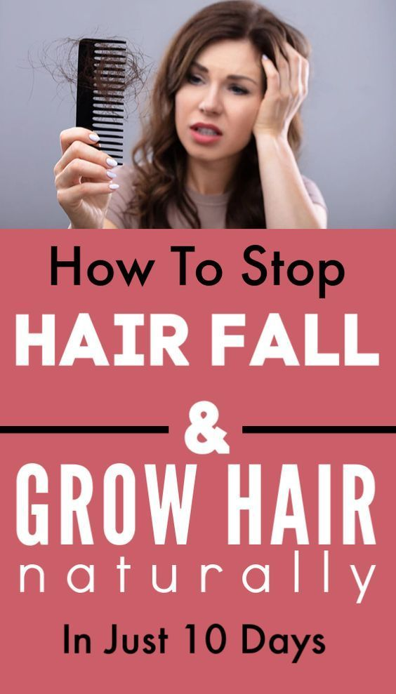 How To Stop Hair Fall And Grow New Hairs Naturally In Just ...