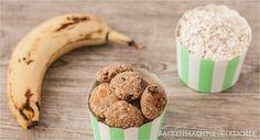 Haferflocken-Kekse kalorienarm, ohne Zucker, ohne Fett aus Bananen und Haferflocken - http://www.backenmachtgluecklich.de/rezepte/gesunde-haferflocken-kekse-ohne-zucker-butter-und-ei.html