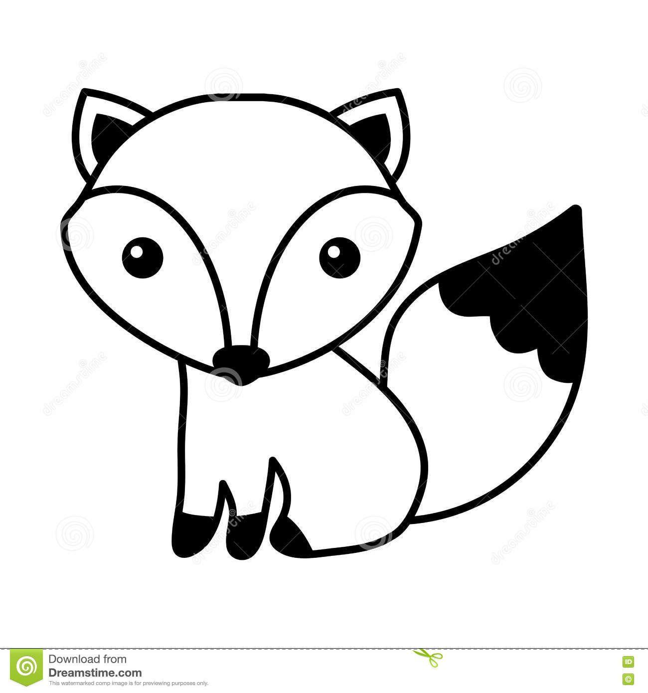 Classy Inspiration Fox Clipart Black And White Cute