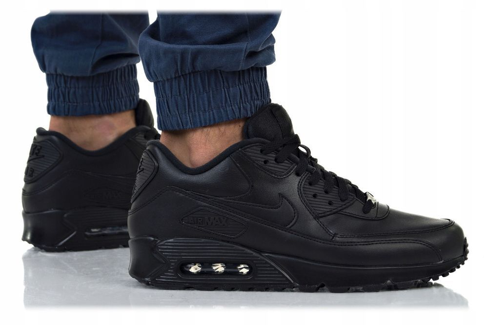 Nike Air Max 90 Leather Sneaker Leder black 302519 001