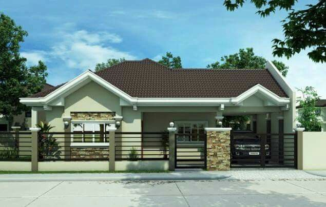Pin By Erika Vargas On Modelos De Casas Modern Bungalow House Philippines House Design Bungalow House Design
