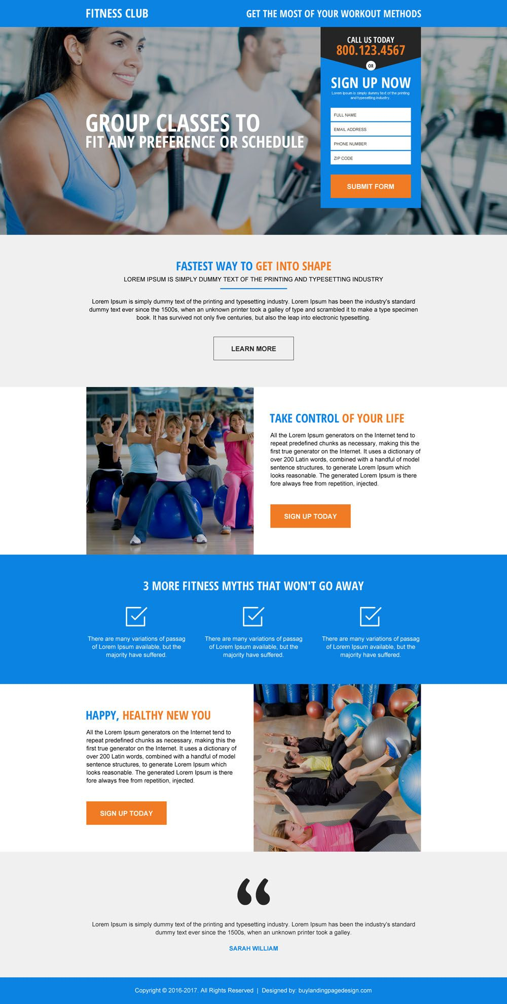 phone call and lead generating form landing page designs