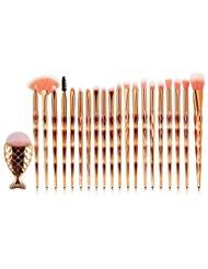Photo of Make-up PinselXGZ 21 STÜCKE Schminkpinsel Meerjungfrau Pulver Foundation Rouge …