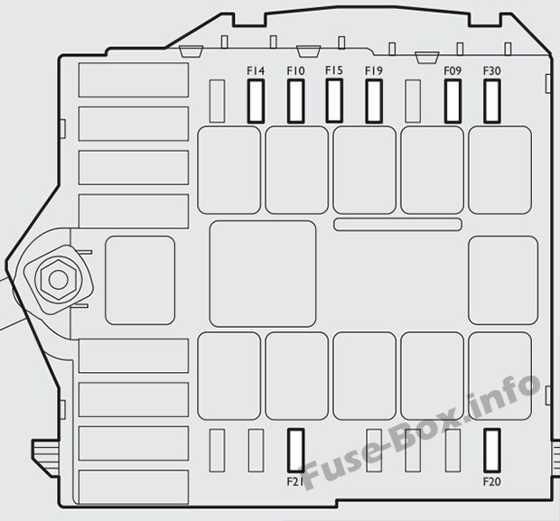 Under-hood fuse box diagram (ver.2): Fiat Bravo (2007-2016