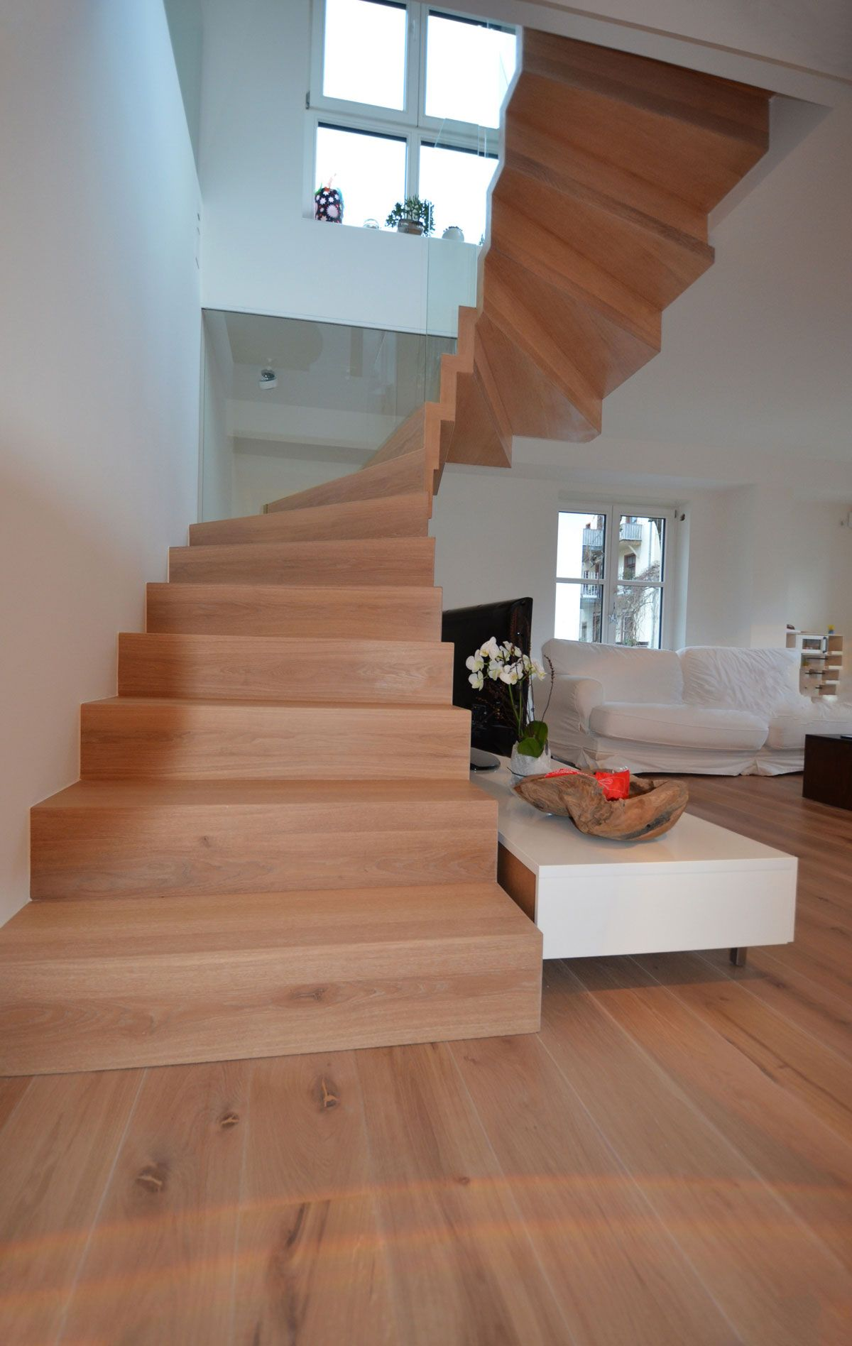 Super Bei einer um 180° gewendelten Treppe mit Schrankunterbau muss man KU16