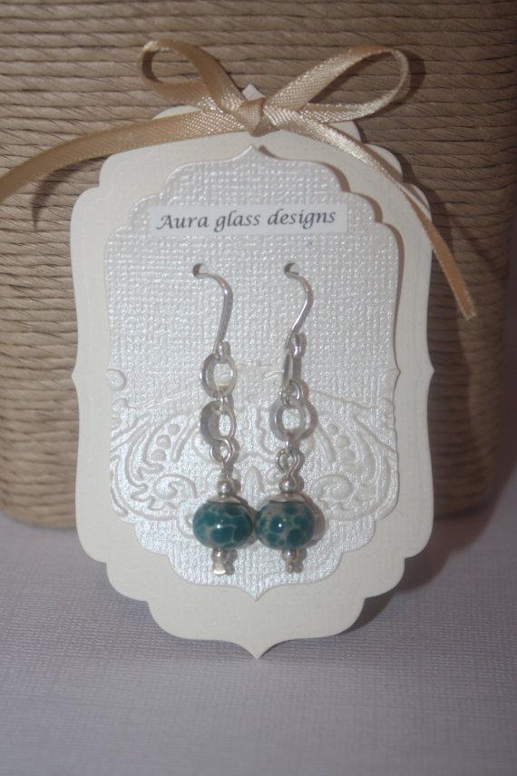 Handmade Earring Cards X 10 Half Damask By