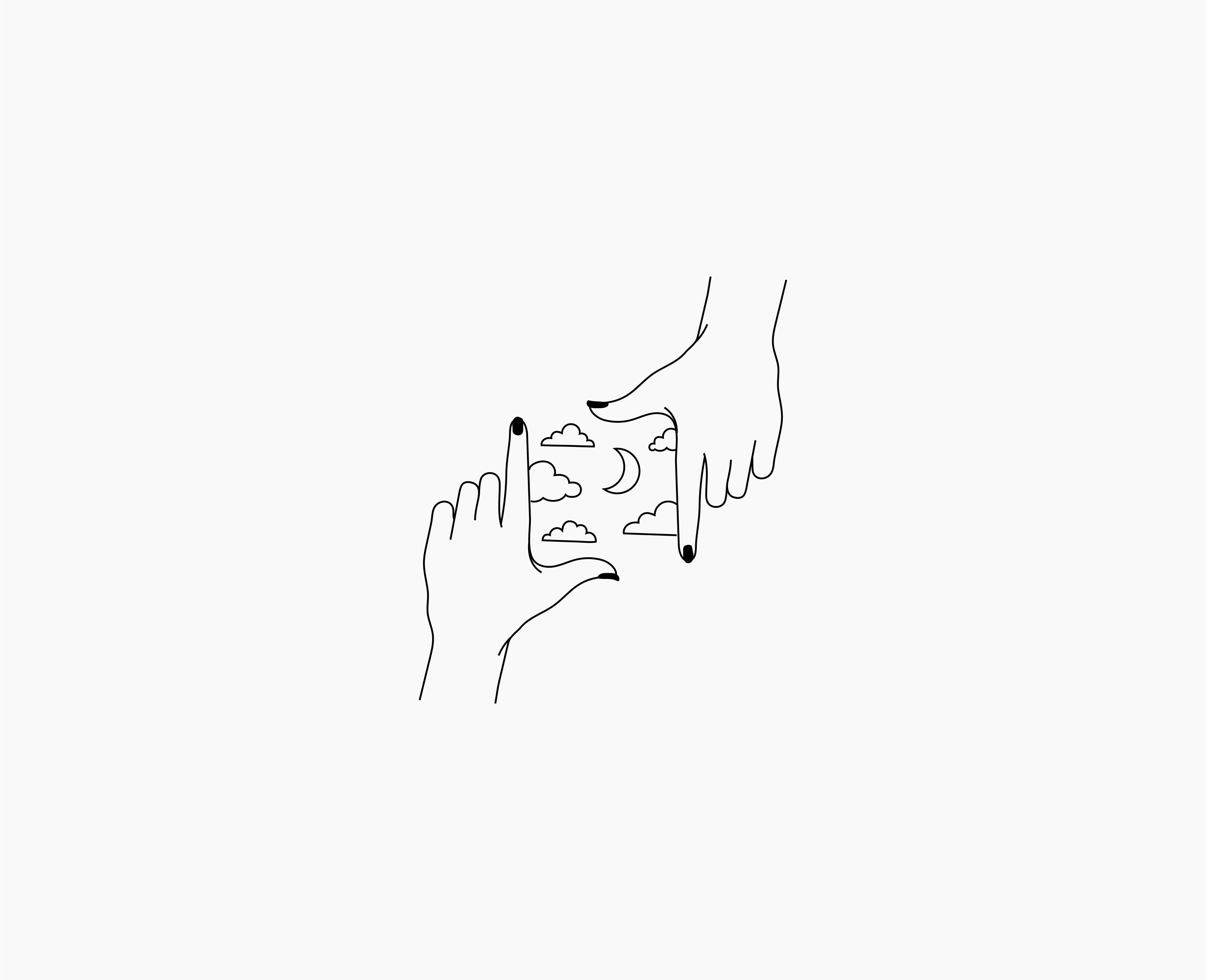 Illustration based on Photography Hand Gestures. Logo