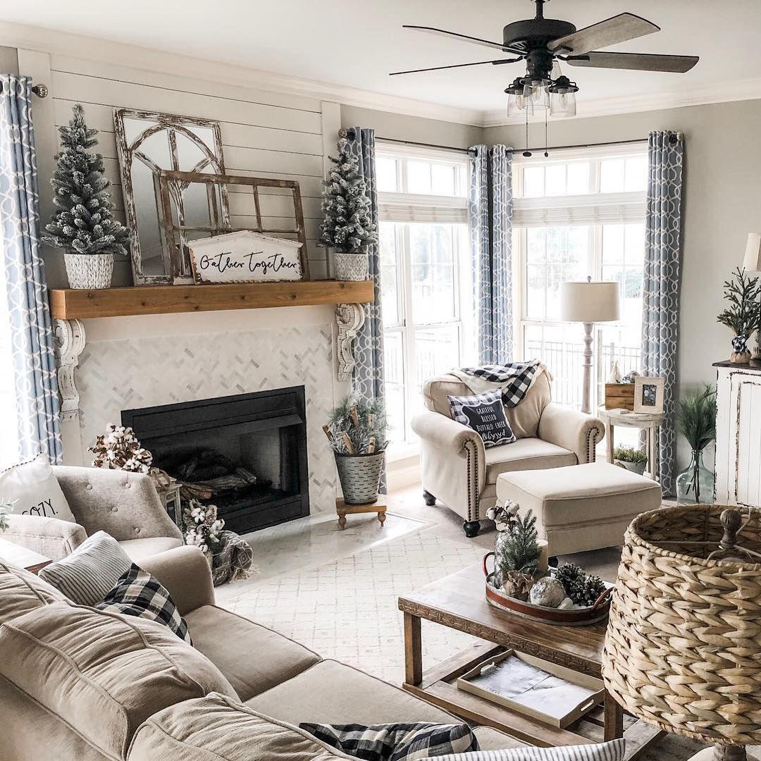Gray Tan Shiplap Farm House Living Room Tan Living