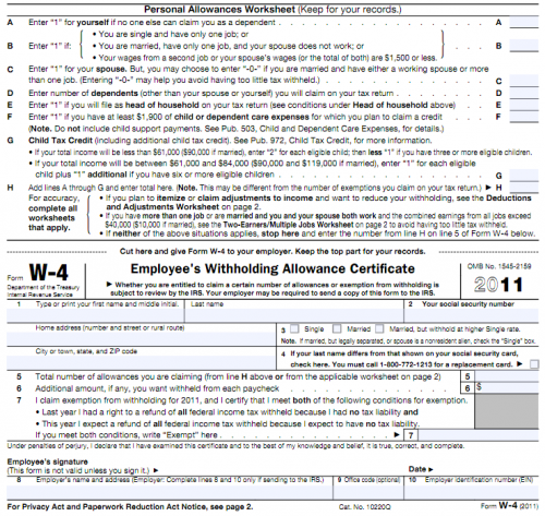 copy of w4 form  How to Fill Out a W-8 Form (Without Errors) | Employee tax ...