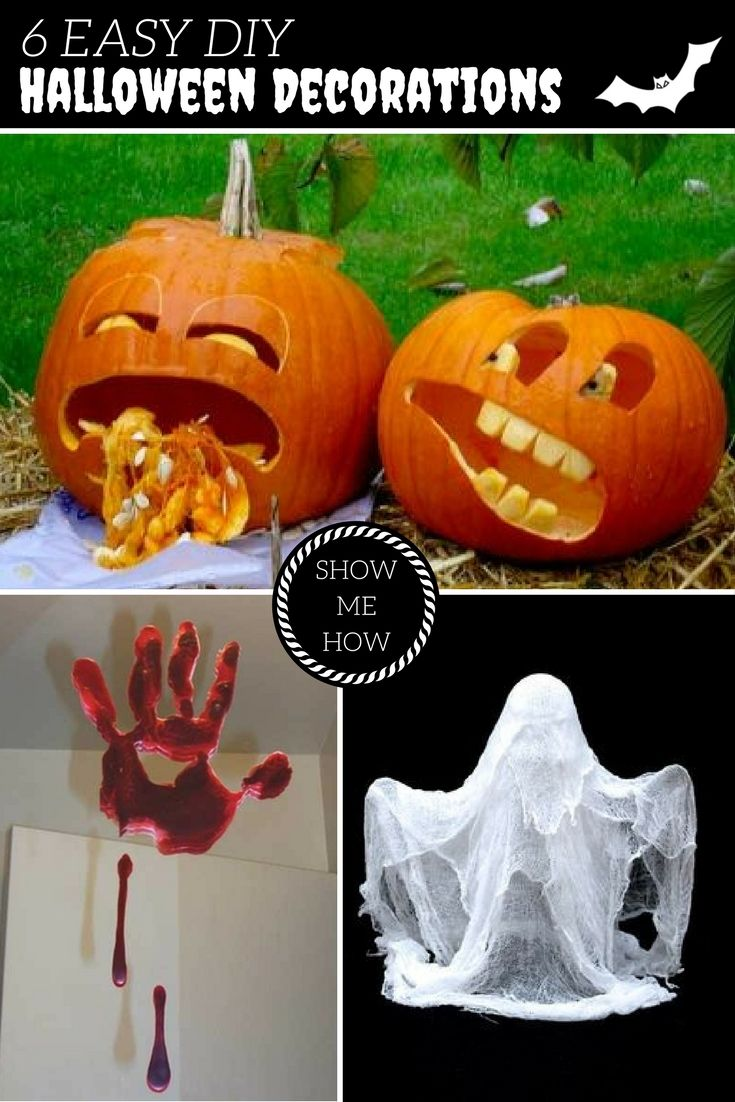 6 Easy Homemade Halloween Decorations - cool homemade halloween decorations