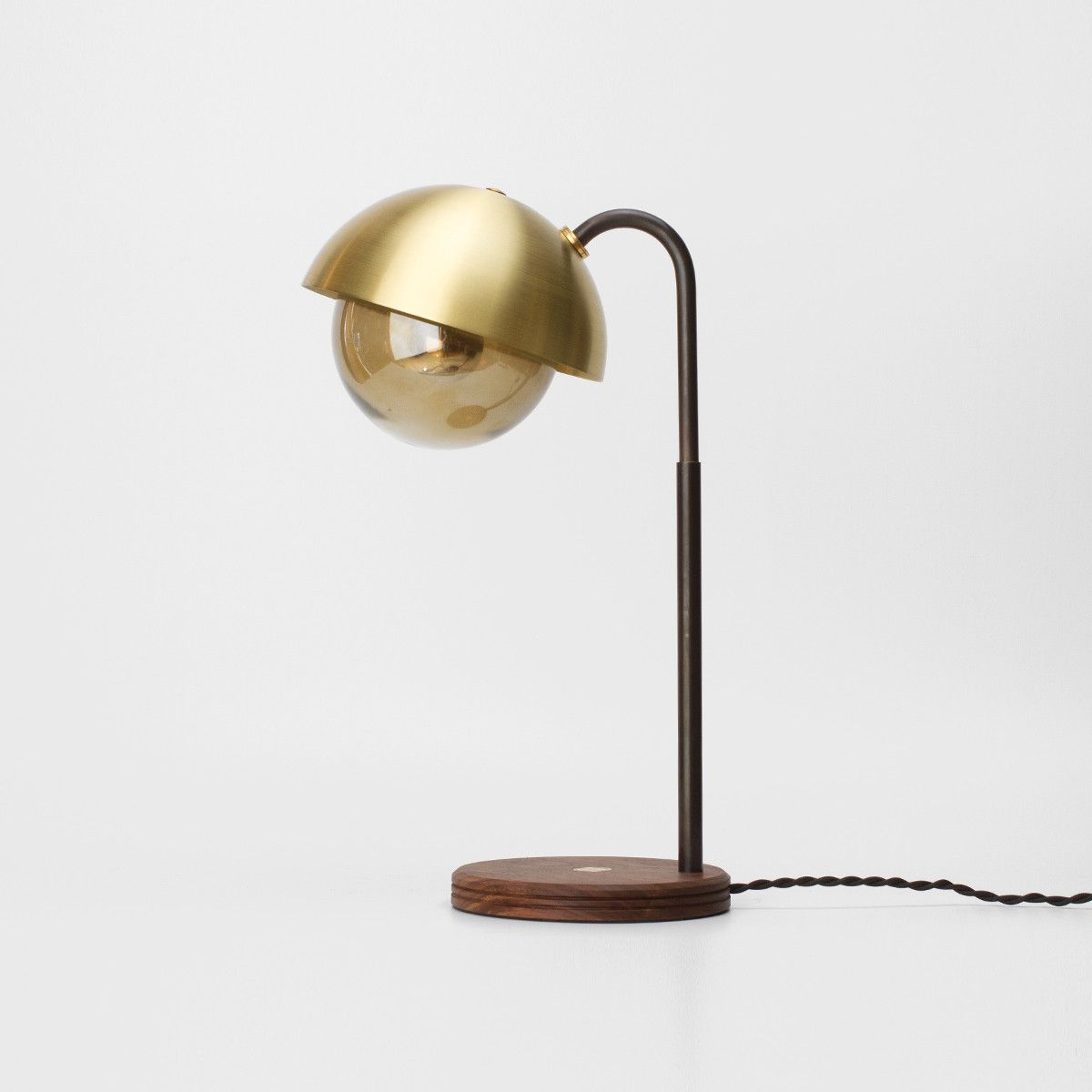 Allied Marker Brass Dome Table Lamp