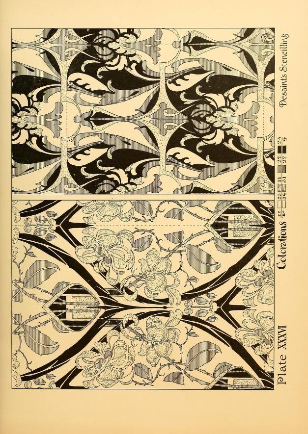 Ideas & studies in stencilling & decorating | Ornamental designs Art ...