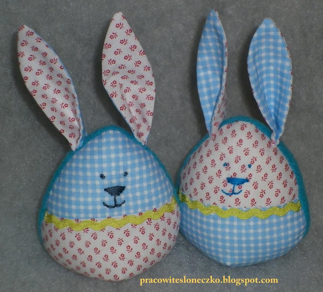 Jajkowe króliczki wielkanocne