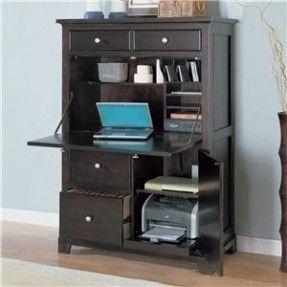 Solid Wood Home Office Desks Ideas On Foter Computer Armoire Printer Storage Secretary Desks Computer desk with printer storage