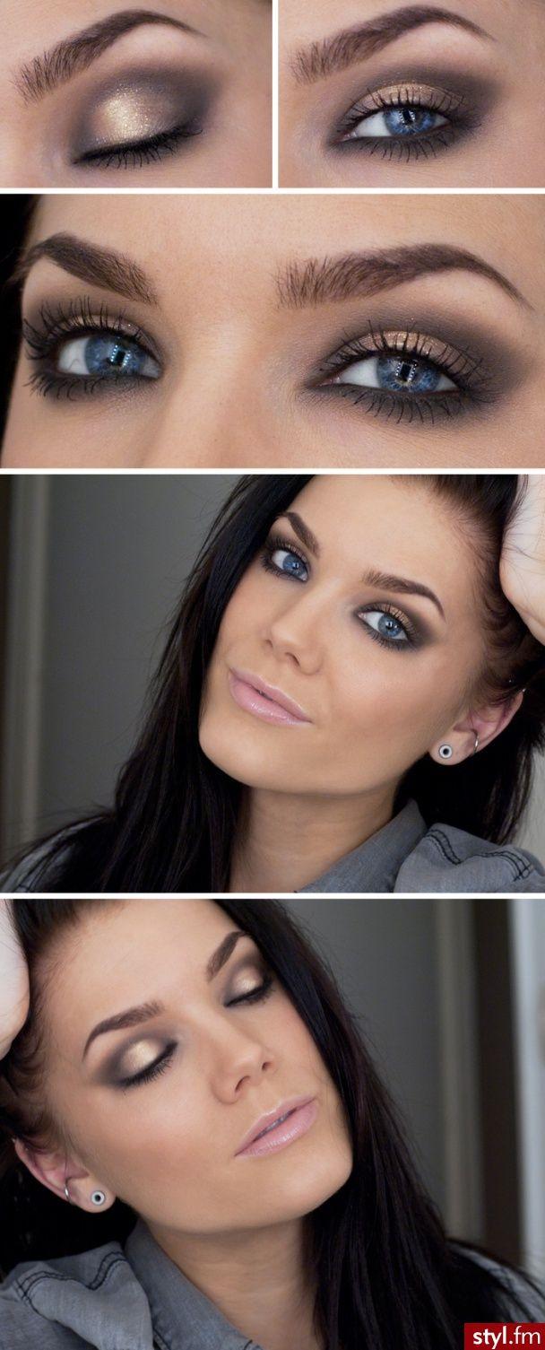 Makijaż Dla Niebieskich Oczu 8 Wzorów Makijaze Pinterest