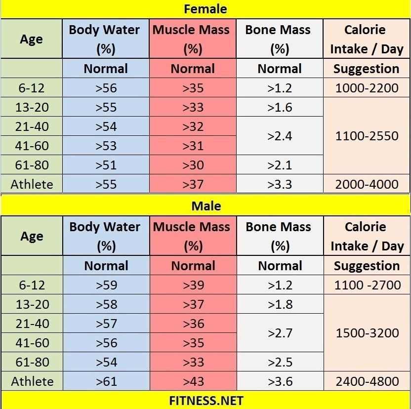 Everything about muscle mass percentage with charts bodybuilding