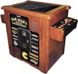 COCKTAIL STYLE ARCADE GAME CABINET (ORIG DESC: GAMING ARCADE STYLE GAMING COUNCIL)