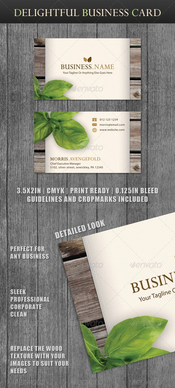Delightful business card business cards business and card templates delightful business card graphicriver description a clean and beautiful business card with a professional look reheart Image collections