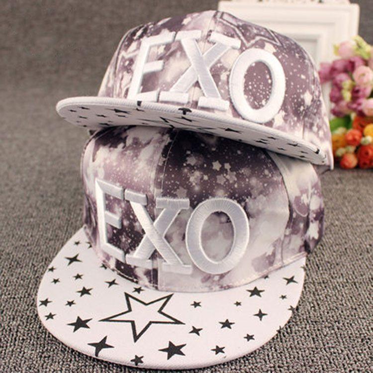 2015 NEW ARIVAL EXO Letter Gorras Jordan Snapback Hip Hop Hats 4 Color Novelty Style Casquette Unkut Baseball Caps For Boy Girl
