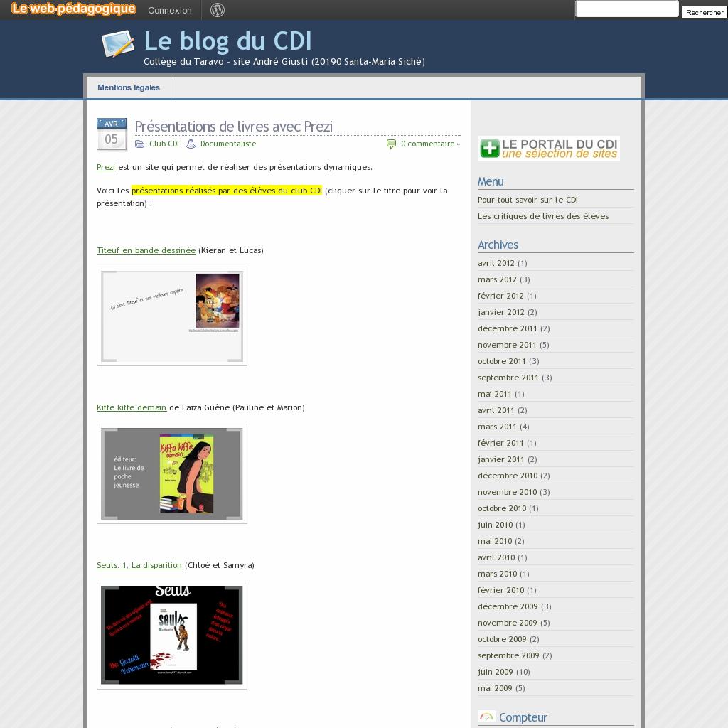 Le Blog Du Cdi