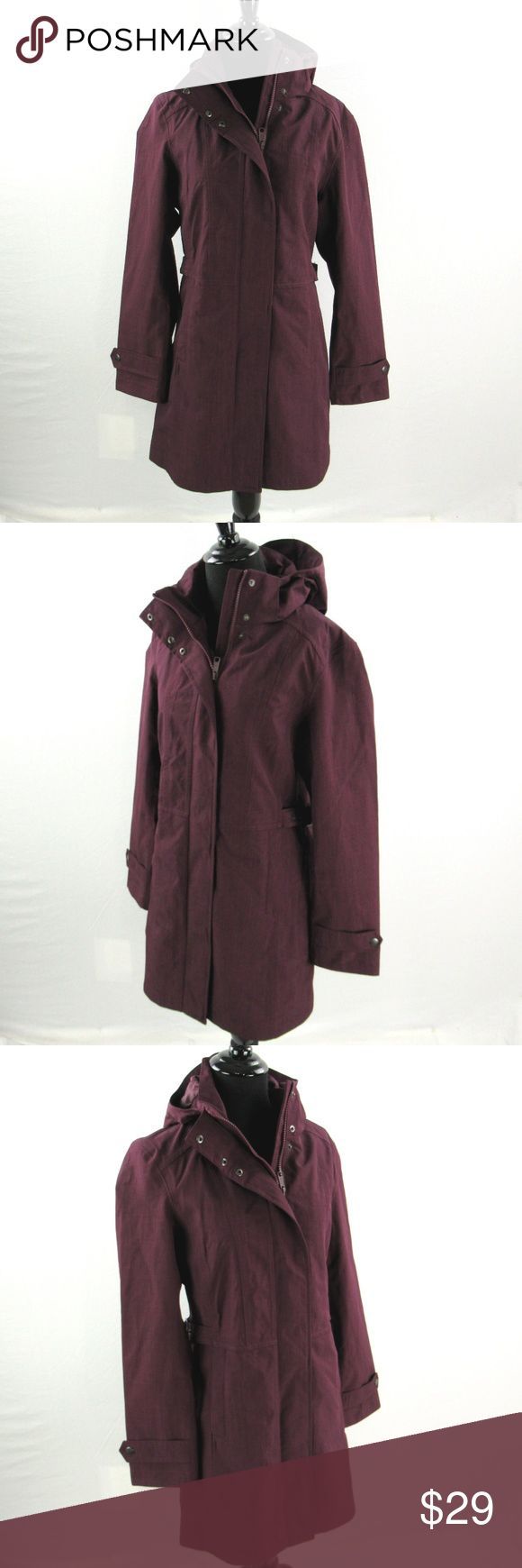 b106f26f9 New Kirkland Signature Trench Coat Water Rain NEW Kirkland Signature ...