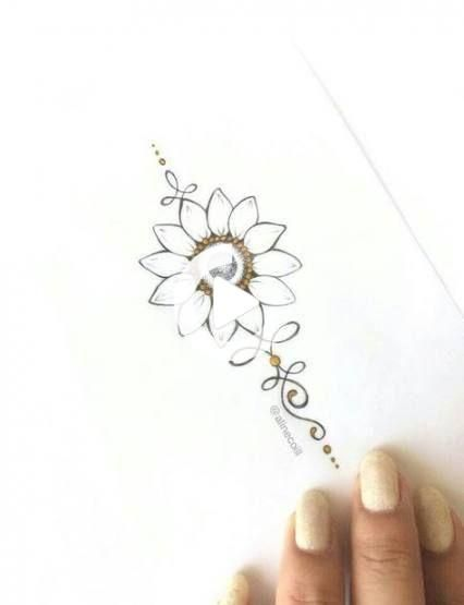 24 New Ideas Tattoo Sunflower Neck | Trendy tattoos, Tattoos, Small ta