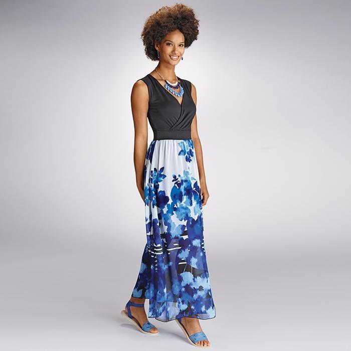 Definitions print maxi dress