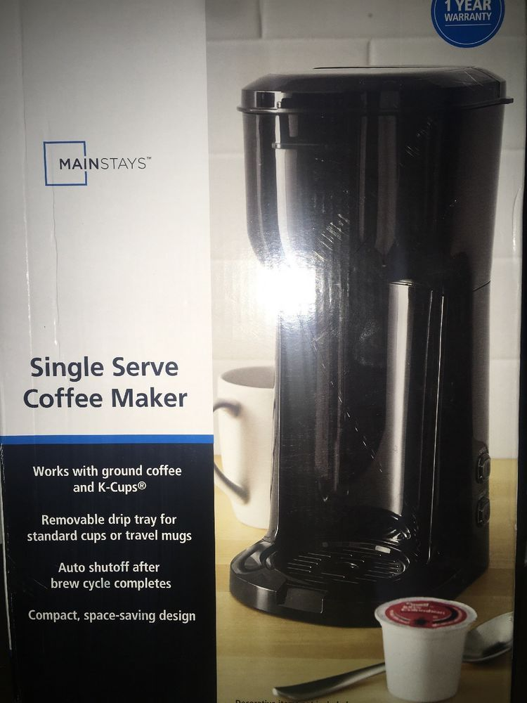 Mainstays Single Serve Coffee Maker Unopened Ebay Ebay Single