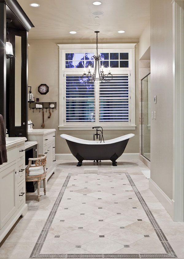 22 Collections Of Classy Bathroom Flooring Ideas Traditional