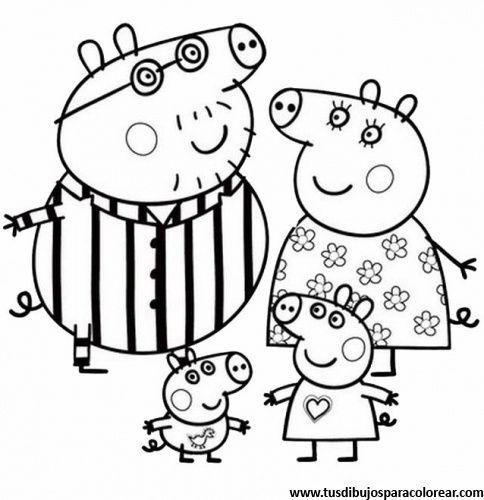 Peppa Pig para colorear  Dibujos para colorear  Pinterest