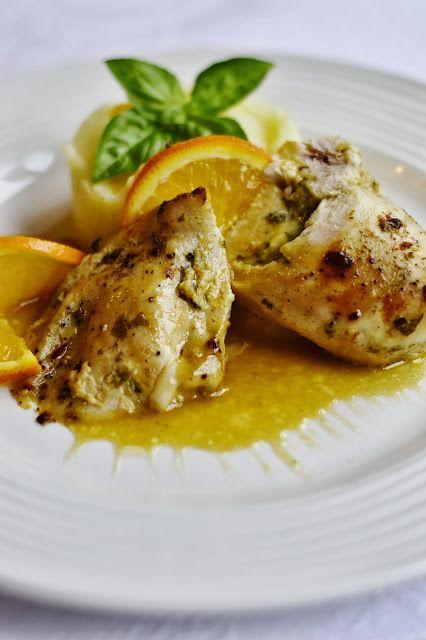 .. chute a vône mojej kuchyne...: Plnene kuracie prsia s pomarancovou omackou#more