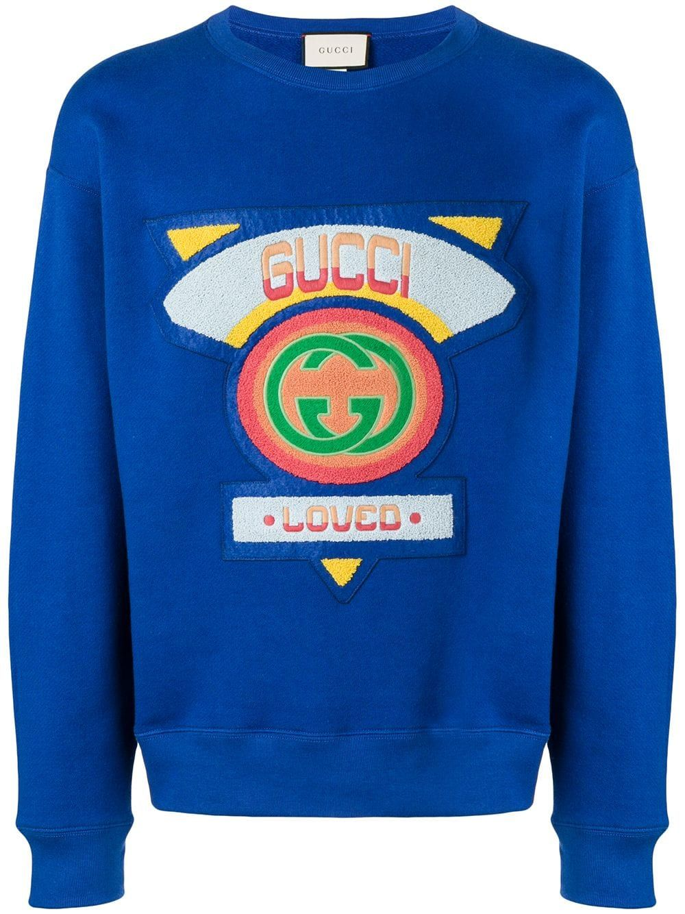 e1a2691ee05 GUCCI GUCCI FLOCKED SWEATSHIRT - BLUE.  gucci  cloth