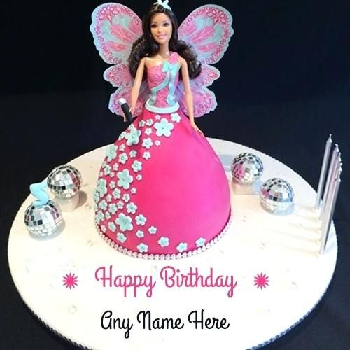 My Name Pix Birthday Cake Names Barbie Doll Cake With Name