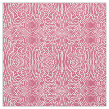 Vintage inspired damask style intricate design of intertwined swirls. Stylish pink and white fabric available in various fabric styles and lengths to suit all your craft and sewing project needs.