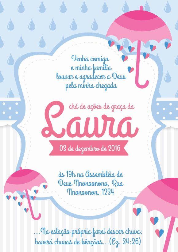 Pin De Cristina Soares Lima Rodrigues Em Diy Convite Chuva De